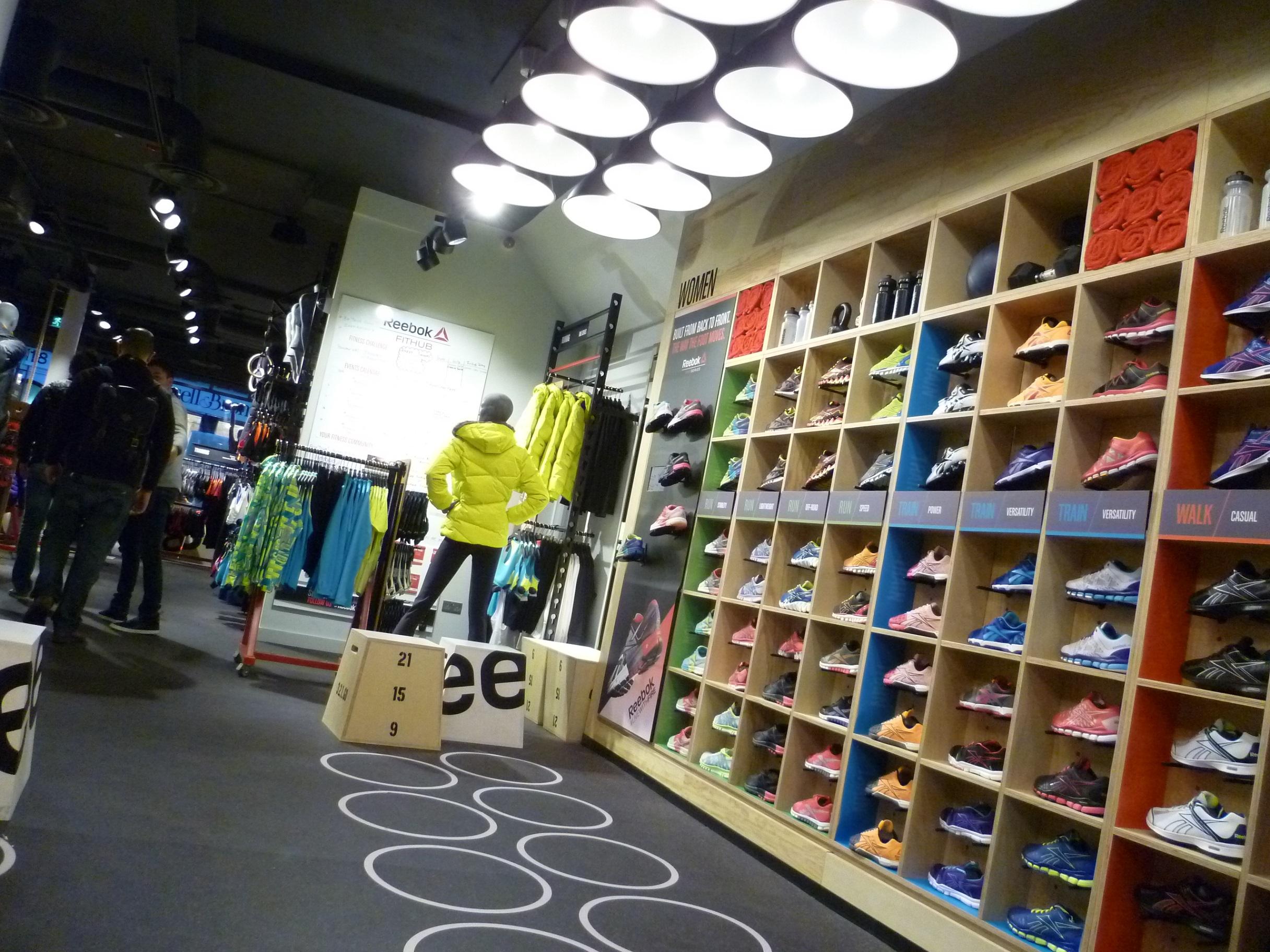 Reebok footwear wall